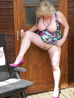 Summers here at last so time to relax in the Garden heres a few Pics of me flashing in my Summer HouseClaire  xxx