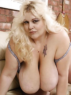 Large lusty lady sucks a big black cock!