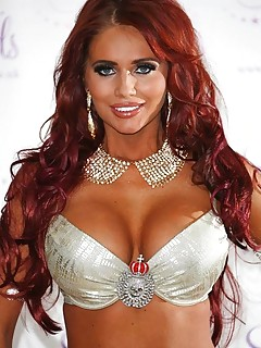 Sexy sultry Amy Childs promotes jewelry in her lingerie
