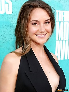 Hot sexy Shailene Woodley cleavy red carpet pics