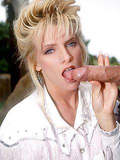Debbie enjoys their warm cocks in her mouth until they cum