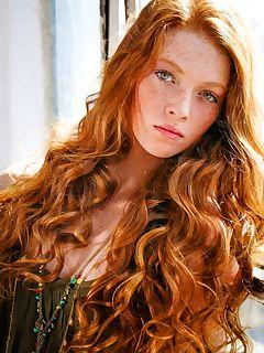 beautiful curly redhead