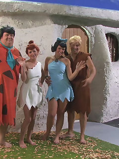 The Flintstones  Brooke Lee Adams Hayden Winters Hillary Scott Misty Stone