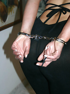 Humiliated horny wives handcuffed all wet and ready